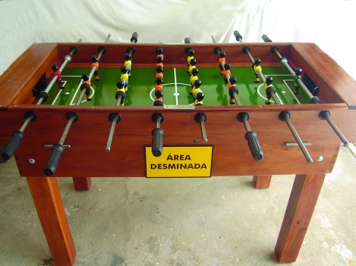 Cleared of Mines, 2006, Table football game and pvc boards, 90 x 147 x 125 cm